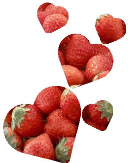イチゴ&ハートの画像